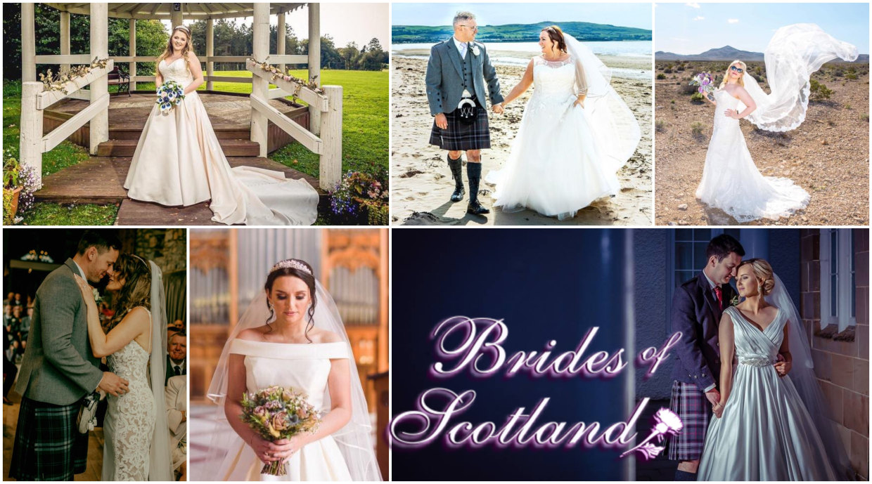 Bridal dresses as worn on the day