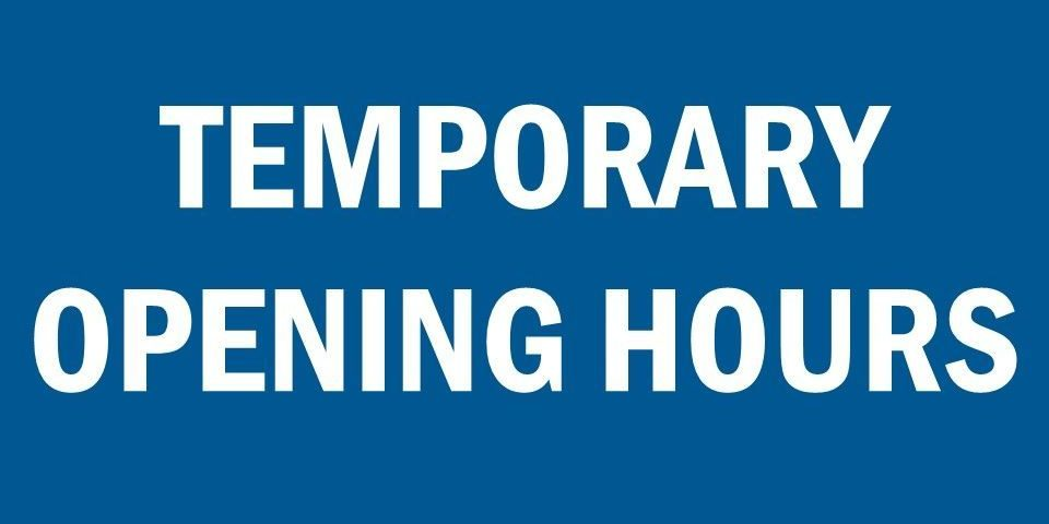 Brides of Scotland Temporary Opening Hours